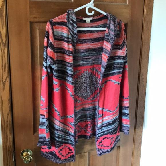 Self Esteem Sweaters - Hooded open sweater